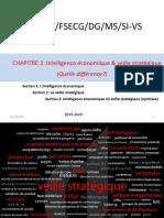 Master 1 management stratégique  système dinformation et veille stratégique chapitre  3