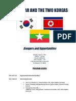Myanmar and the Two Koreas Program Agenda FINAL