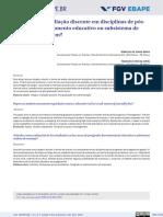 Artigos como avaliação discente em disciplinas de pósgraduação