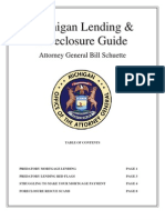 Michigan Lending & Foreclosure Guide - By Attorney General Bill Schuette