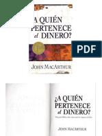 John MacArthur - A Quién Pertenece el Dinero