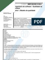 Nbr Iso 9126 - Engenharia De Software - Qualidade De Produto - Parte 1 - Modelo De Qualidade