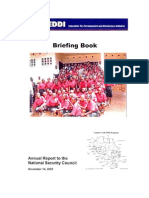 Education for Development and Democracy - Annual Report National Security Council ~ Peace Corps