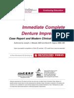 Immediate Complete Denture Impressions
