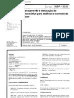 NBR 13035 - Planejamento e instalacao de laboratorios para analises e controle de aguas