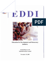 Education for Development and Democracy Initiative Annual Report To National Security Council 2003 - Peace Corps