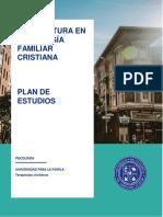 Plan de Estudios Lic Psicologia cristiana
