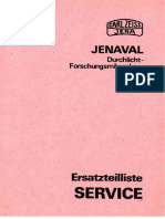 Zeiss Jenaval - Ersatzteilliste