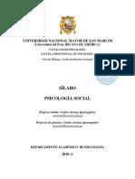 Psicología Social - Dr. Carlos Arenas I. Ciclo IV