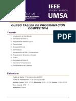 CURSO TALLER DE PROGRAMACIÓN COMPETITIVA