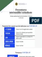 Raportul COVID-19 privind Situația Epidemiologică la 21 septembrie 2021 (ora 17:00):