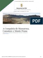 A Conquista de Massarosa, Camaiore e Monte Prana – Memorial da FEB