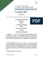 LEY 1098 de 2006-Codigo de La Infancia y Adolescencia