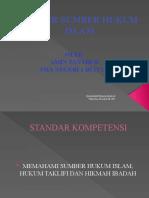 SUMBER-SUMBER HUKUM  ISLAM 2