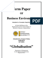 Globalization term paper