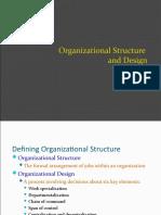 Organization Structure & Design