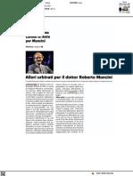 Allori urbinati per il dottor Roberto Mancini - Il Resto del Carlino del 21 settembre 2021