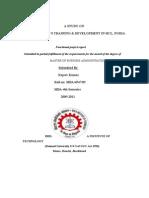 study on employee's training & development HCL