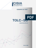 Esempio di prova TOLC-SU