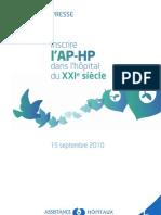 APHP_plan stratégique 2010_2014_Communique de presse_29 pages
