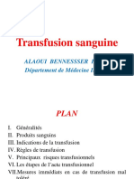 Transfusion sanguine Pr ALAOUI BENNESSSER