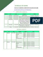 PMS 2008 Date Sheet
