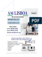 Carta de apresentação AM LISBOA Serviços Especializados.