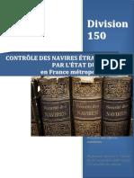 Division 150 Controle des navires étrangers par l'état du port
