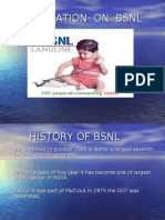 PRESENTATION  ON  BSNL
