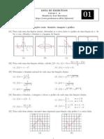 Lista de Exercícios #01 - Cálculo I-A (UFF) Prof Humberto J Bortolossi - 4 pag