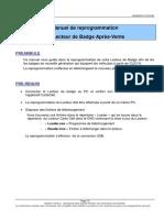 Manuel de Reprogrammation V1.0