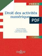 Droit des activités numérique