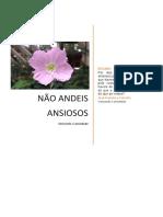 NÃO ANDEIS ANCSIOSOS - PARA 01-08-2021 - EBD