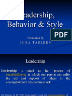 Leadership, Behavior & St