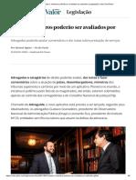 Juízes e ministros poderão ser avaliados por aplicativo _ Legislação _ Valor Econômico