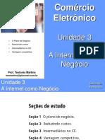 Unidade 3 - A Internet Como Negócio - Comércio Eletrônico