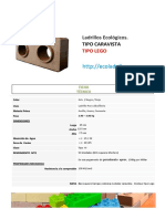 Ecoladrillo - Ficha Tecnica