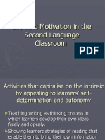 Intrinsic Motivation in the Second Language Classroom