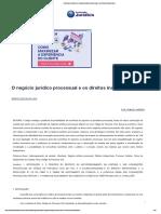 Conteúdo Jurídico _ O Negócio Jurídico Processual e Os Direitos Indisponíveis