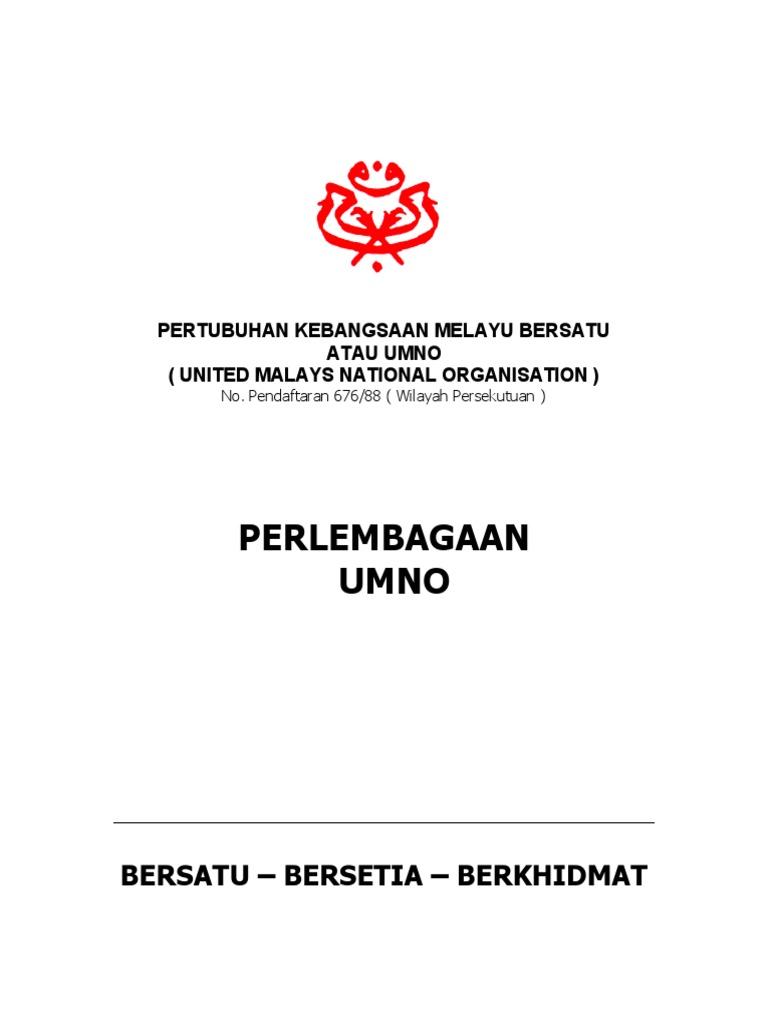 Perlembagaan Umno