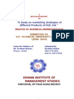 marketing strategies of different Products of HUL Ltd