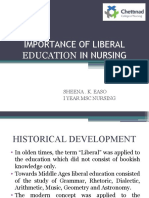 IMPORTANCE OF LIBERAL EDUCATION IN NURSING