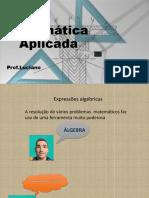 AULA 4 - Matemática Aplicada