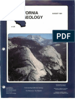 California Geology Magazine August 1991