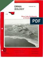 California Geology Magazine February 1991