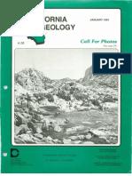 California Geology Magazine January 1991