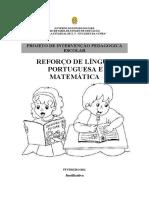 PROJETO DE REFORÇO ESCOLAR EM LÍNGUA PORTUGUESA E MATEMÁTICA