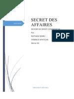 SECRET DES AFFAIRES  (DROIT COMMRCIAL)