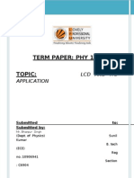 lcd and its applications