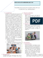 Bases Socioculturales de La Conducta Humana Para Quinto Grado de Secundaria